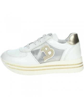 Sneakers bambina bianco/oro...