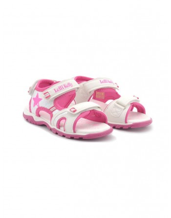Sandalo bimba sport rosa e...
