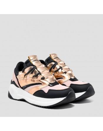 Sneaker con lacci replay